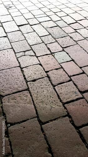 Fotografia Full Frame Shot Of Paving Stone Street