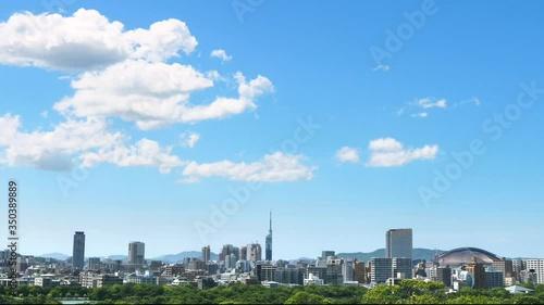 Fototapete - 都市風景 福岡市 ノーマルスピード