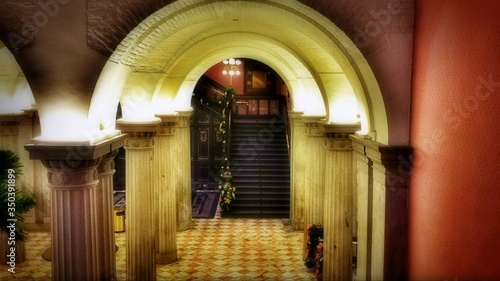 Fotografie, Obraz Archway And Stairs