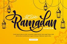 Ramadan Kareem Lettering Backg...