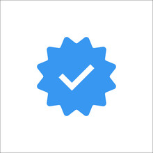 Instagram Verified Badge Icon. VectorIllustration
