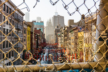 Golden Hour Over Chinatown In Manhattan, New York. 2017