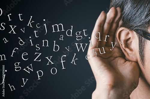 Fotografie, Obraz 英語を聴く男性