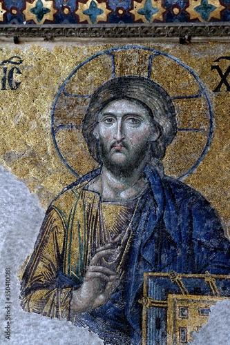 Canvastavla Close-up Of Mosaic In Hagia Sophia