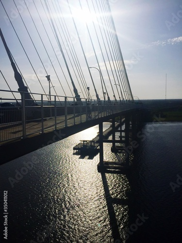Photo Arthur Ravenel Jr Bridge Over Cooper River Against Sky