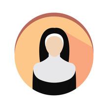 Isolated Nun Icon