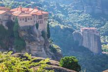 Meteora Monasteries On Mountai...