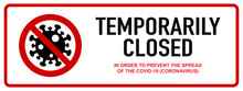 Office Temporarily Closed Sign...