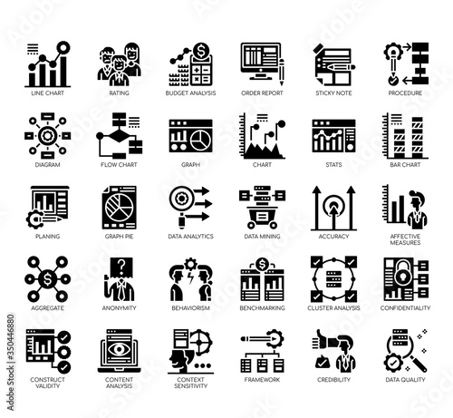 Set of research and analysis thin line and pixel perfect icons for any web and app project Wallpaper Mural