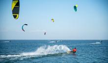 Active Water Sports, Kitesurf At Sea In The Lagoon