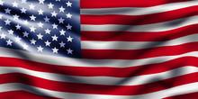 American Flag Waving. Vector B...