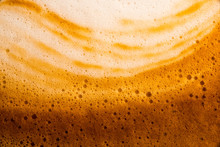 Bubble Milk And Coffee Froth,Coffee In A Glass,Milk And Coffee Close-up