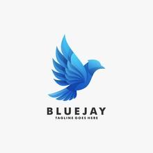 Vector Logo Illustration Bluej...