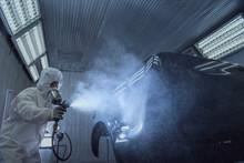 Close Up Of Paint Spray Gun, W...