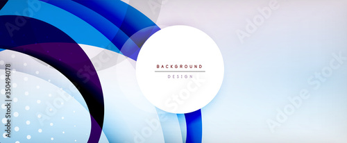Fototapeta Trendy simple circle abstract background, dynamic motion concept. Vector Illustration For Wallpaper, Banner, Background, Card, Book Illustration, landing page obraz