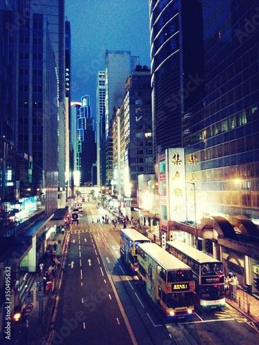 Fototapeta Busy Street By Night obraz na płótnie