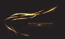 Abstract Gold Line Curve Light...