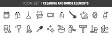 Set Of Cleaning Icons, Such As...