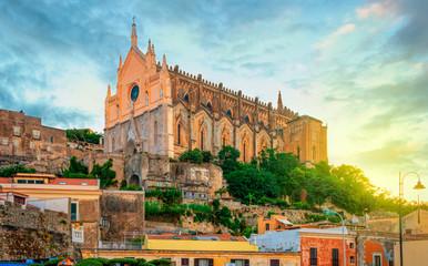 The Church of San Francesco D'Assisi in Gaeta, Monte Orlando, Lazio, Italy. Morning in Gaeta.