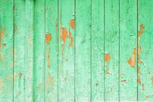 Old Vintage Green Rustic Woode...