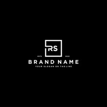 Letter RS Logo Design Vector