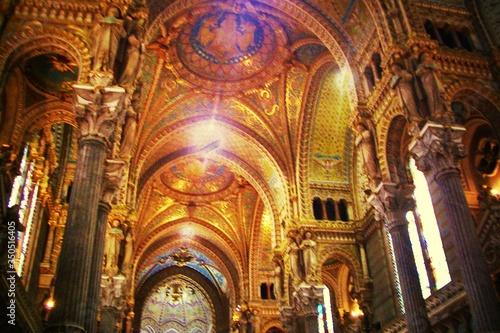 Obraz na plátně Interior Of Cathedral Of St John The Baptist