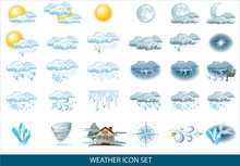 Vector Weather Forecast Icon W...