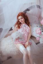 Art Photo Redhead Woman Baroqu...
