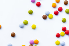 Colorful Candies Abstract Whit...