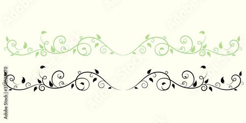 Obraz Vintage floral ornament, Hand drawn decorative element, vector illustration of floral element isolated on white background, design for page decoration cards, wedding, banner, frames - fototapety do salonu