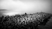 Sea Defence Boulders At Shoreham