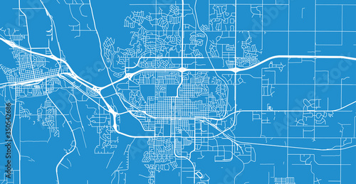 Slika na platnu Urban vector city map of Bismarck, USA