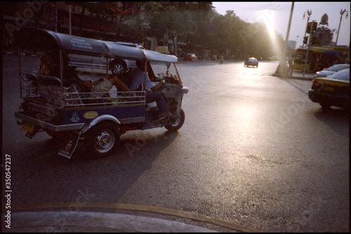 Vászonkép Rickshaw On Street