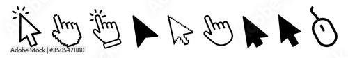 Obraz Vector cursors icons click set - fototapety do salonu
