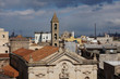 San Cataldo cathedral in the foreground. Ecology is not very good in Taranto, Italy.
