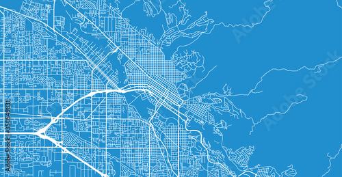 Fotografia Urban vector city map of Boise, USA. Idaho state capital