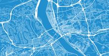 Urban Vector City Map Of Harrisburg, USA. Pennsylvania State Capital
