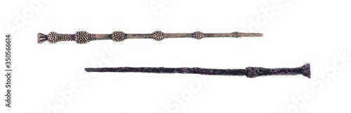 Fotografía magic wand ,elder wand  isolated on white background