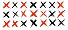 Grunge Letter X. Cross Checkma...