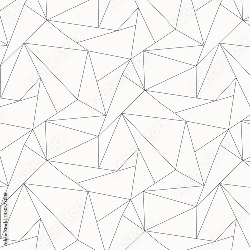 Photo Geometric vector pattern, repeating asymmetry linear triangle shape or polygon triangle