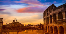 Landmark View Of Colosseum In ...