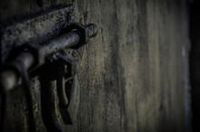 Close-up Of Rusty Latch On Door