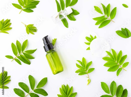 Carta da parati Concept of natural Spa cosmetic products, Spa background, flat lay, copy space