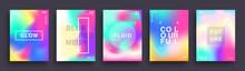 Set Of Blurred Color Gradient ...