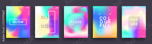 Fotografija Set of Blurred Color Gradient Posters