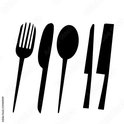 Obraz Eating tools and kitchen 2 - fototapety do salonu