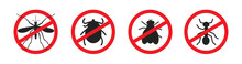 Mosquitoes Stop Sign Vector Icon, Thick, Flea And Fly Mark
