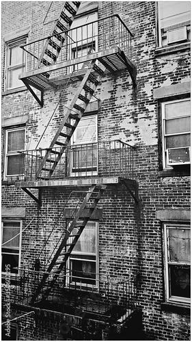 Fotografie, Obraz Fire Escape At Backside Of Building