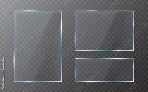 Obraz na plátně Glass plate set on transparent backdrop