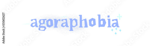 Photo Agoraphobia - fear of open space, open doors, large crowds of people